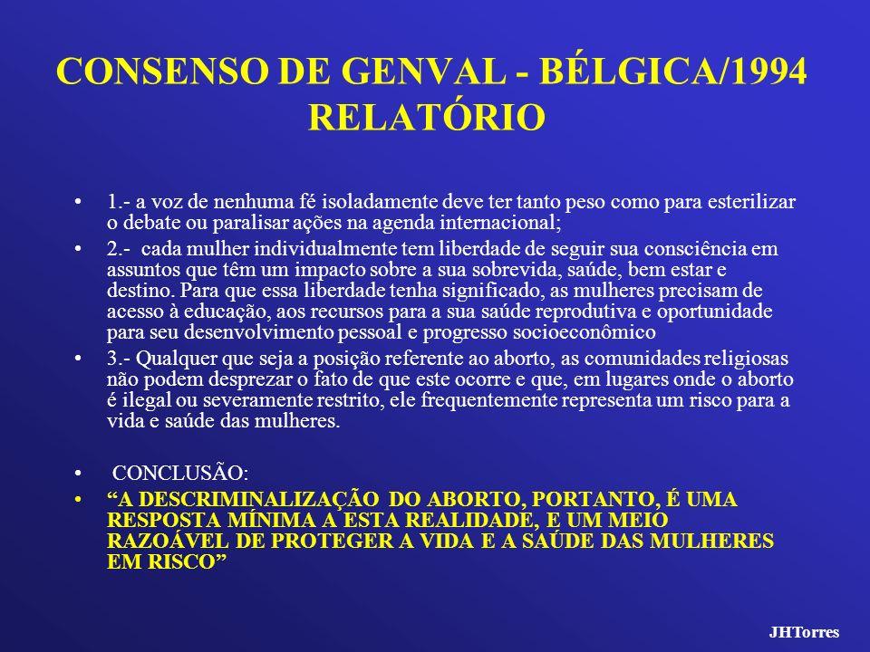 CONSENSO DE GENVAL - BÉLGICA/1994 RELATÓRIO