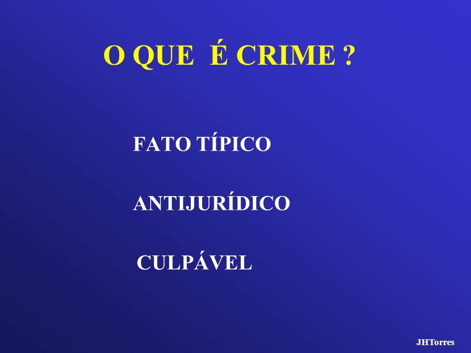 O QUE É CRIME FATO TÍPICO ANTIJURÍDICO CULPÁVEL JHTorres