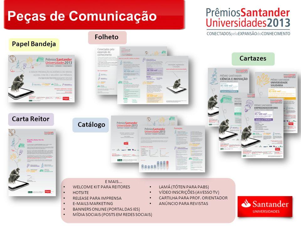 Peças de Comunicação Folheto Papel Bandeja Cartazes Carta Reitor