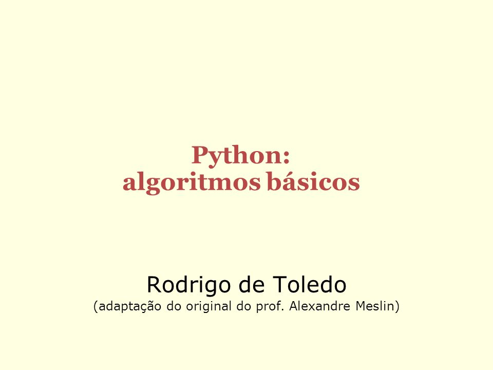 Python: algoritmos básicos