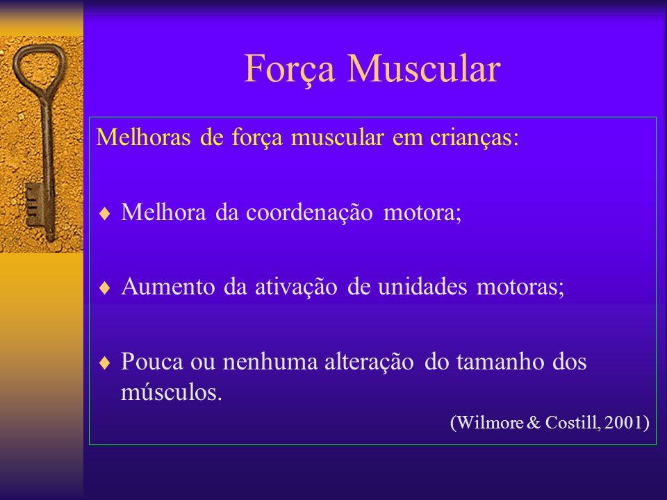Força Muscular Melhoras de força muscular em crianças: