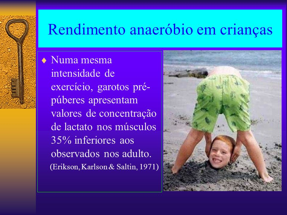 Rendimento anaeróbio em crianças