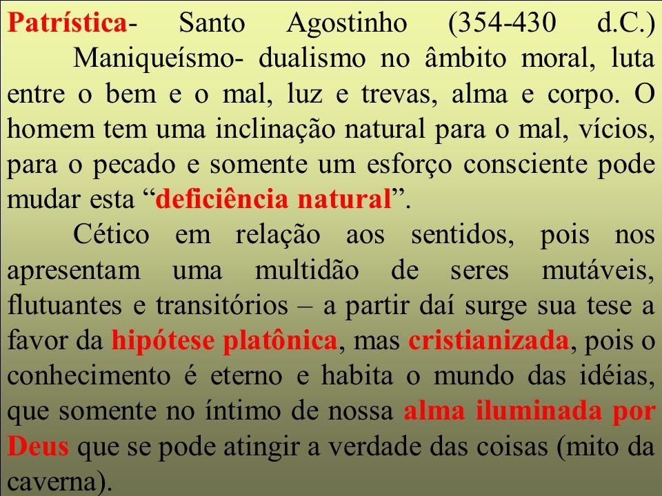 Patrística- Santo Agostinho (354-430 d. C. )
