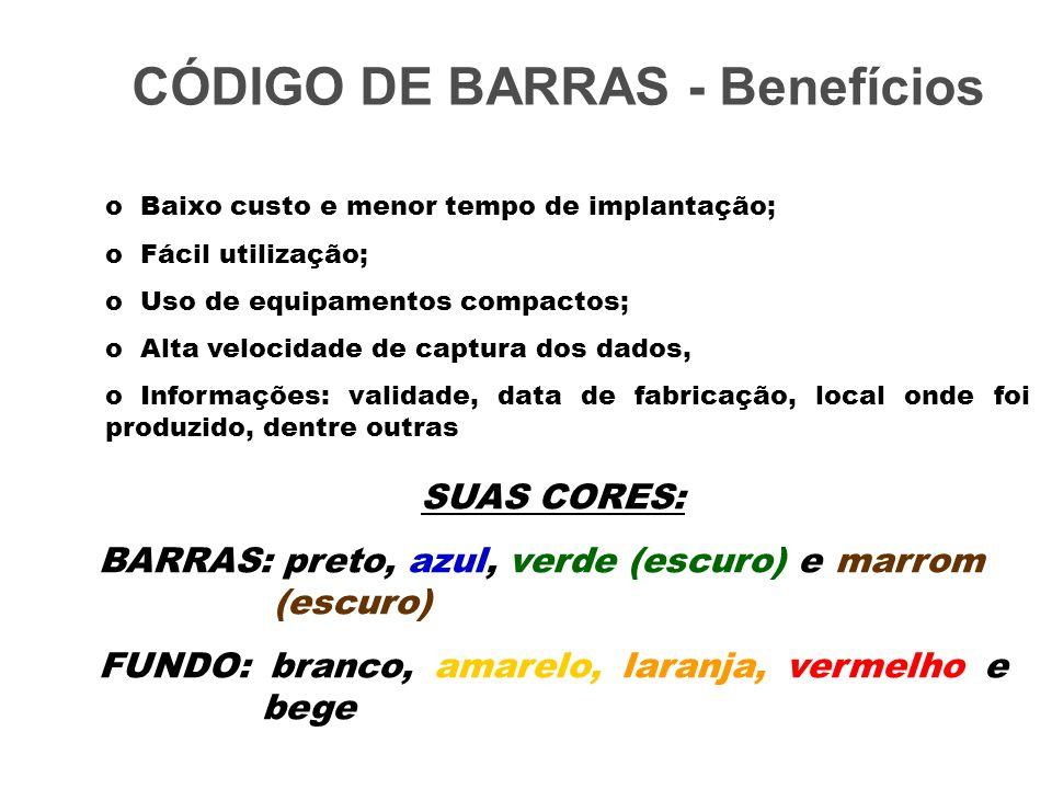 CÓDIGO DE BARRAS - Benefícios
