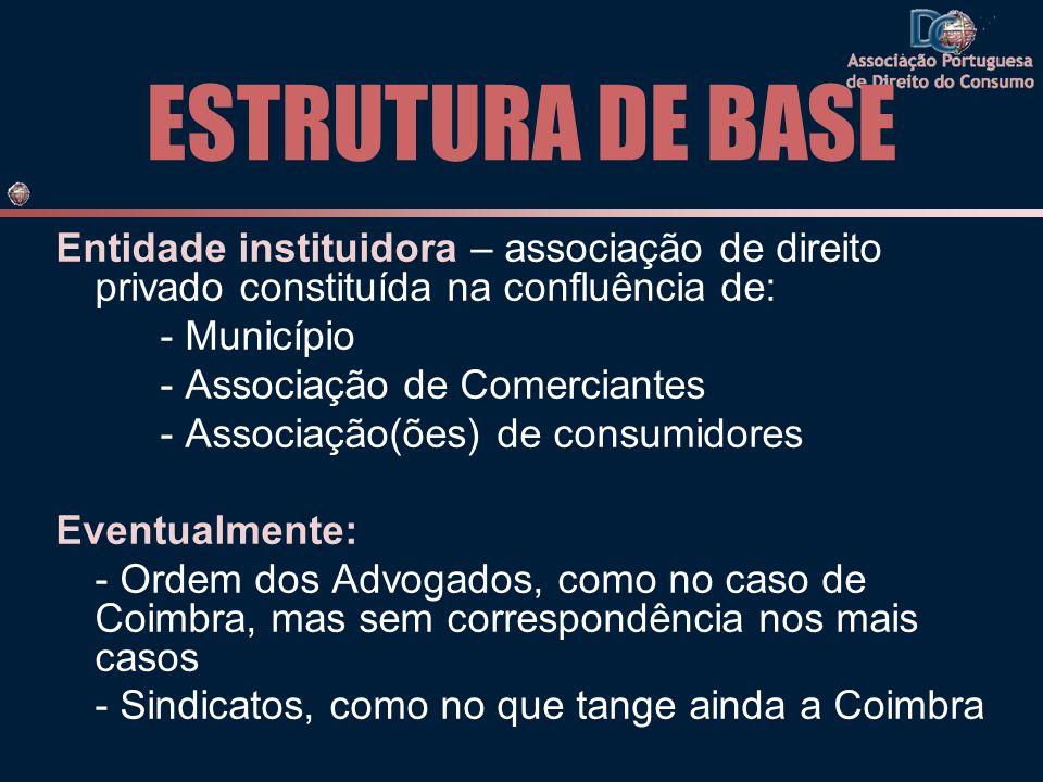 ESTRUTURA DE BASE Entidade instituidora – associação de direito privado constituída na confluência de:
