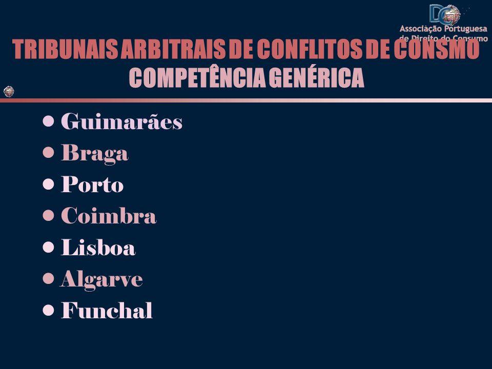 TRIBUNAIS ARBITRAIS DE CONFLITOS DE CONSMO COMPETÊNCIA GENÉRICA