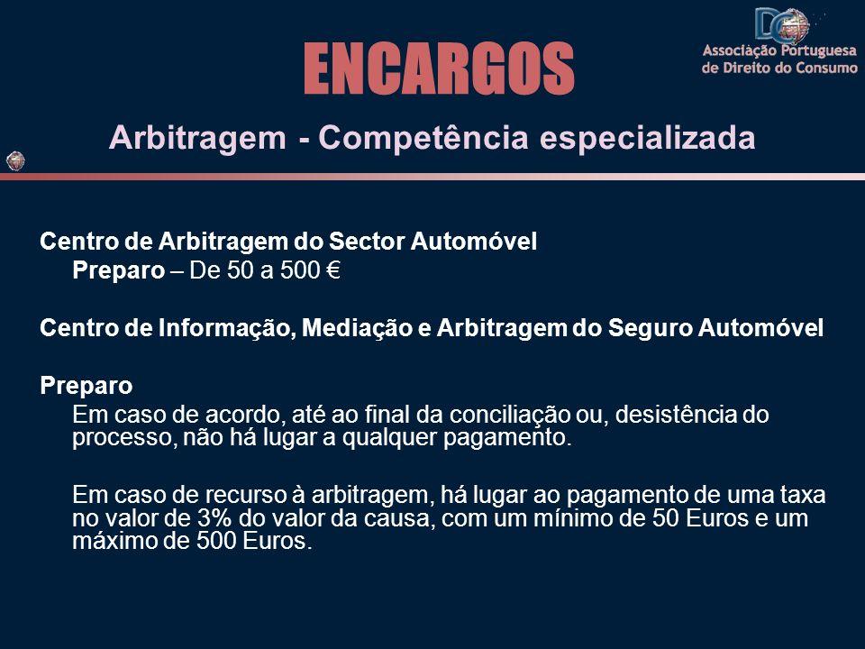 Arbitragem - Competência especializada