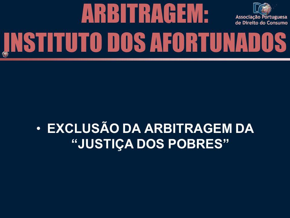 ARBITRAGEM: INSTITUTO DOS AFORTUNADOS