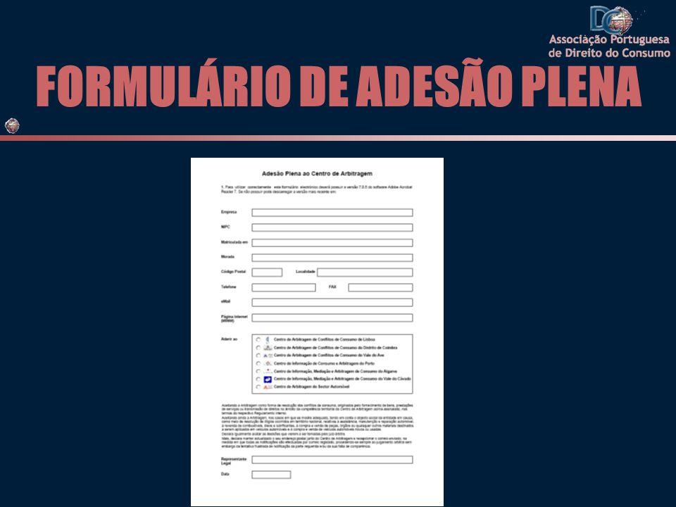 FORMULÁRIO DE ADESÃO PLENA
