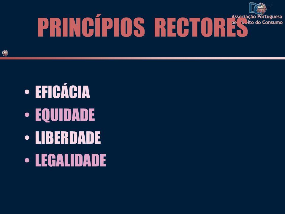 PRINCÍPIOS RECTORES EFICÁCIA EQUIDADE LIBERDADE LEGALIDADE