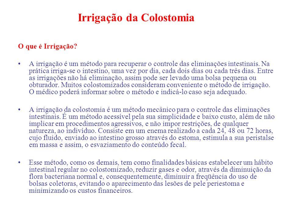 Irrigação da Colostomia