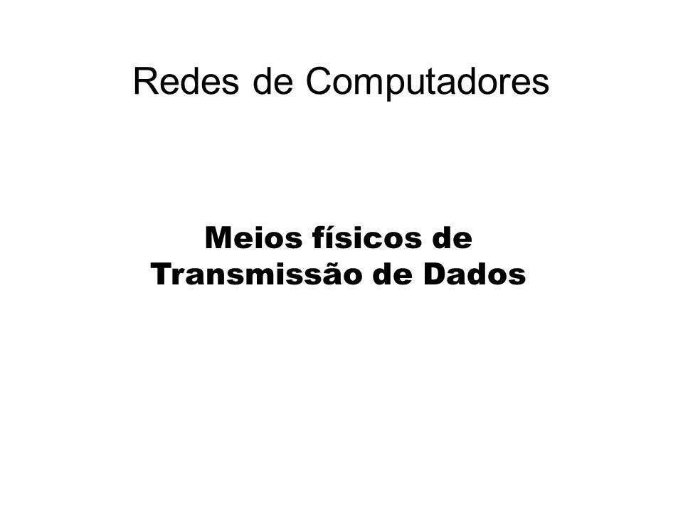 Meios físicos de Transmissão de Dados