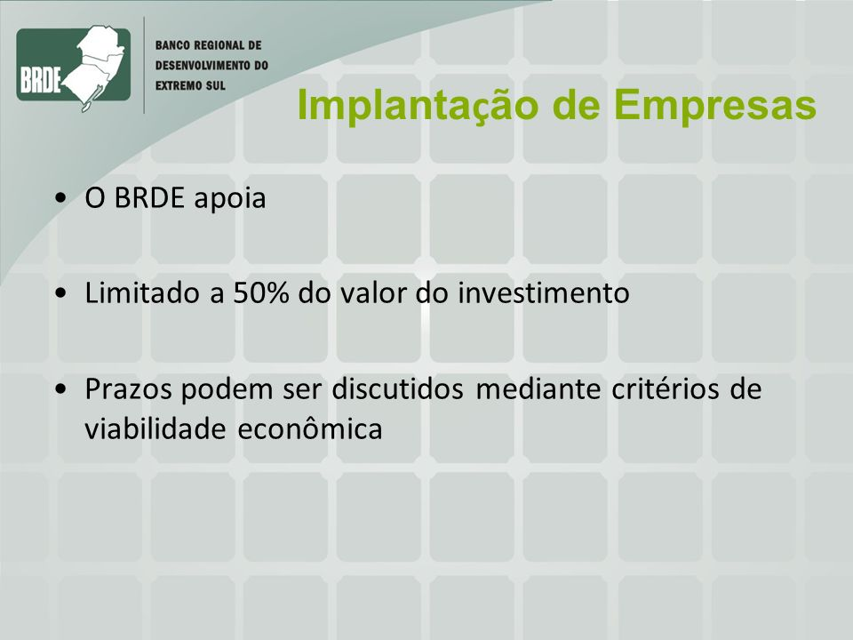Implantação de Empresas