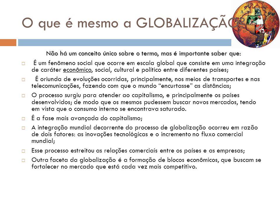 O que é mesmo a GLOBALIZAÇÃO
