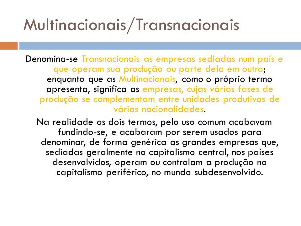 Multinacionais/Transnacionais
