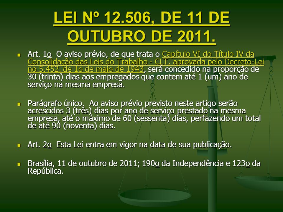 LEI Nº 12.506, DE 11 DE OUTUBRO DE 2011.
