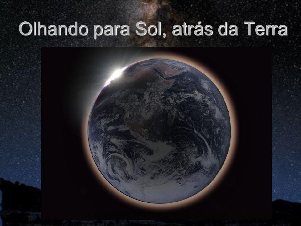 Olhando para Sol, atrás da Terra