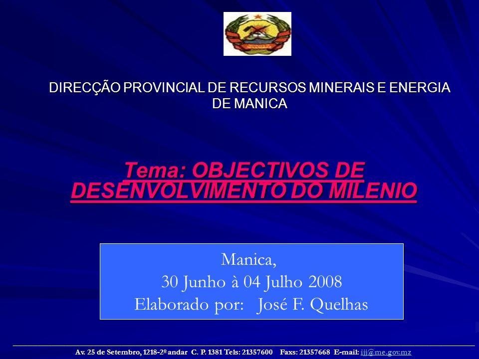 DIRECÇÃO PROVINCIAL DE RECURSOS MINERAIS E ENERGIA DE MANICA
