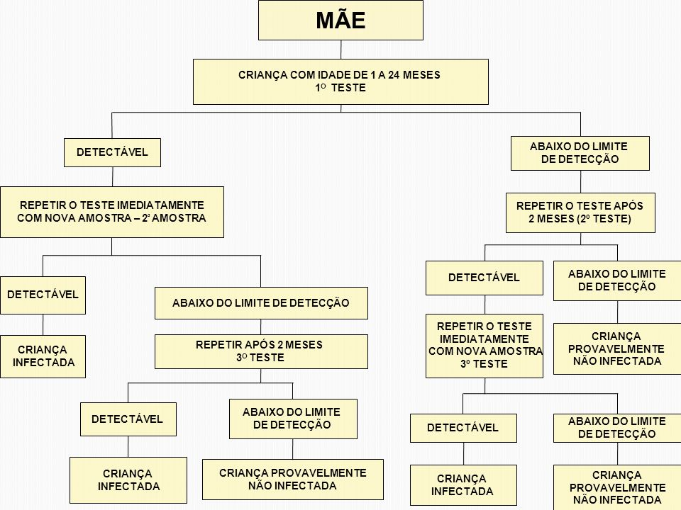 MÃE CRIANÇA COM IDADE DE 1 A 24 MESES 1O TESTE DETECTÁVEL