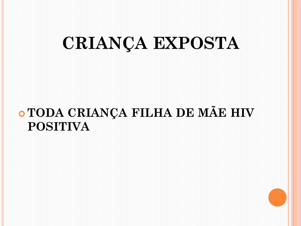 CRIANÇA EXPOSTA TODA CRIANÇA FILHA DE MÃE HIV POSITIVA
