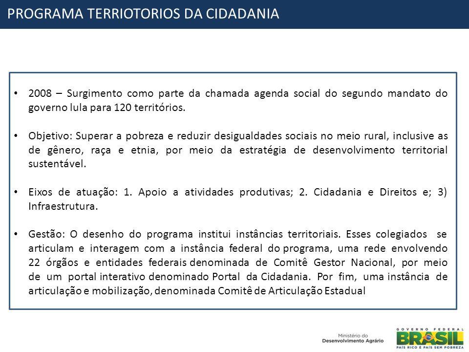 PROGRAMA TERRIOTORIOS DA CIDADANIA
