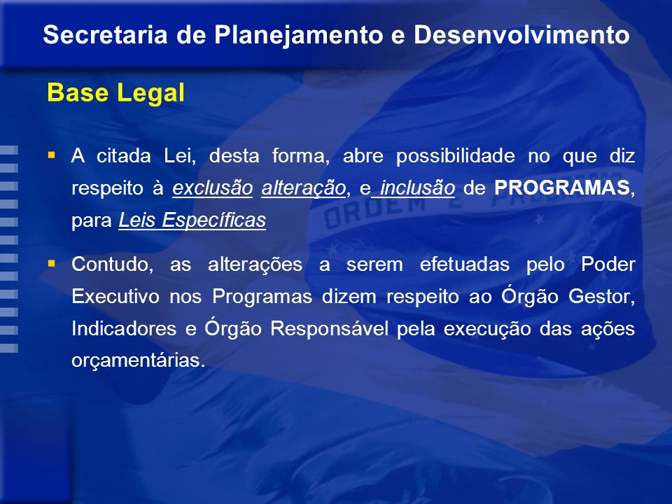 Secretaria de Planejamento e Desenvolvimento