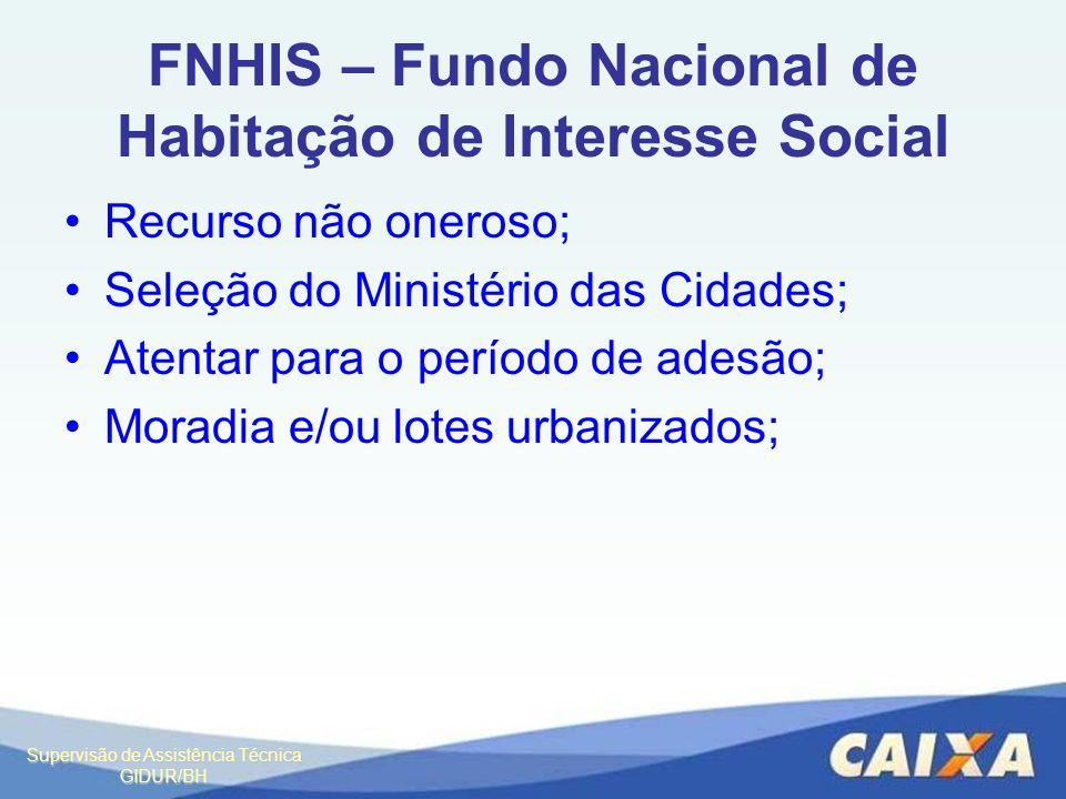 FNHIS – Fundo Nacional de Habitação de Interesse Social