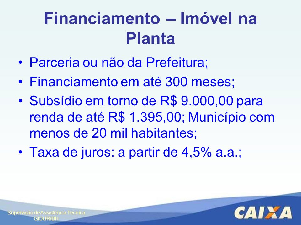 Financiamento – Imóvel na Planta