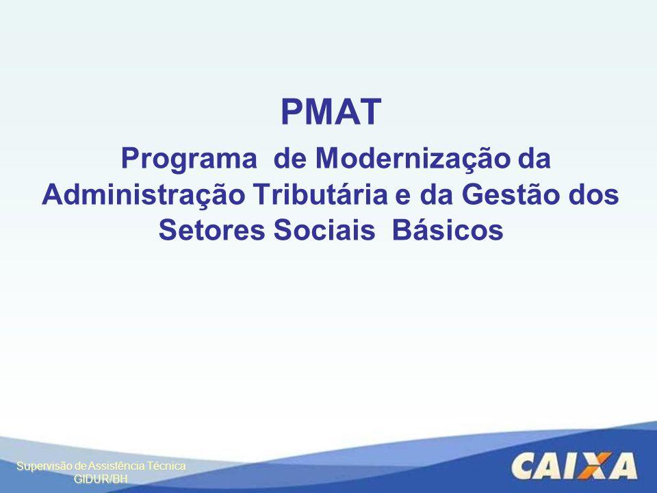 PMAT Programa de Modernização da Administração Tributária e da Gestão dos Setores Sociais Básicos
