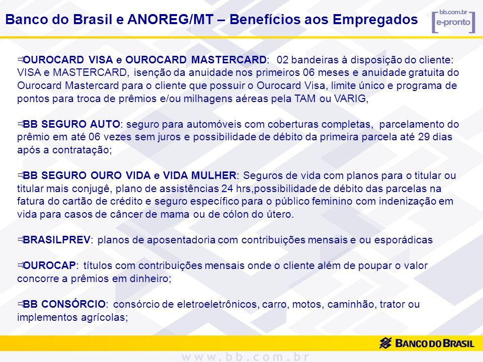 Banco do Brasil e ANOREG/MT – Benefícios aos Empregados