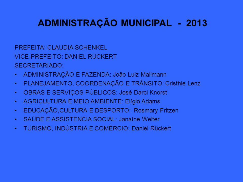 ADMINISTRAÇÃO MUNICIPAL - 2013