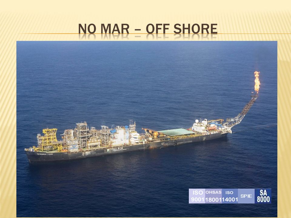 No mar – off shore