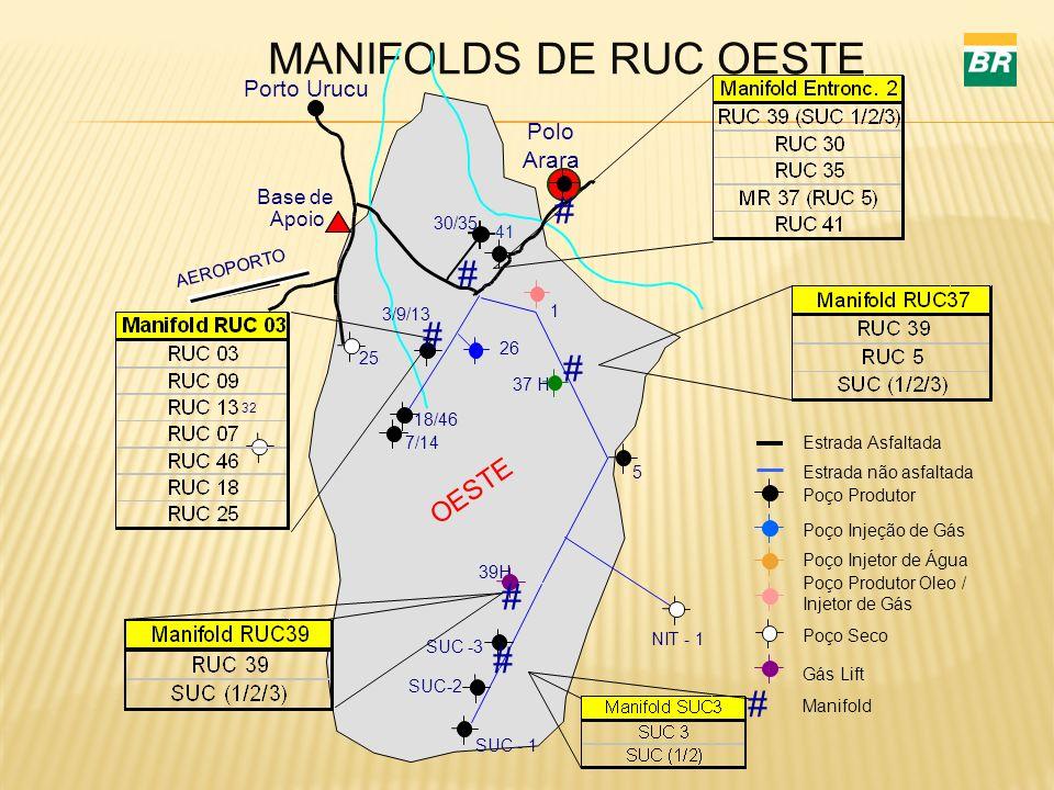 MANIFOLDS DE RUC OESTE # # # # # # # OESTE Porto Urucu Polo Arara