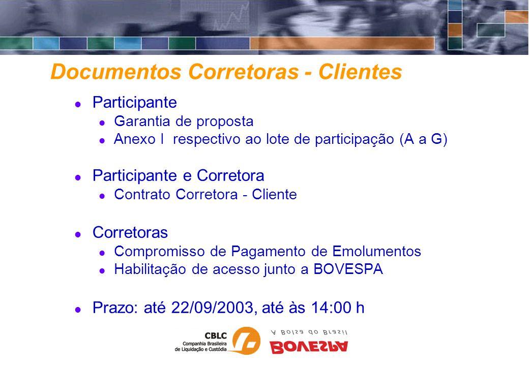 Documentos Corretoras - Clientes