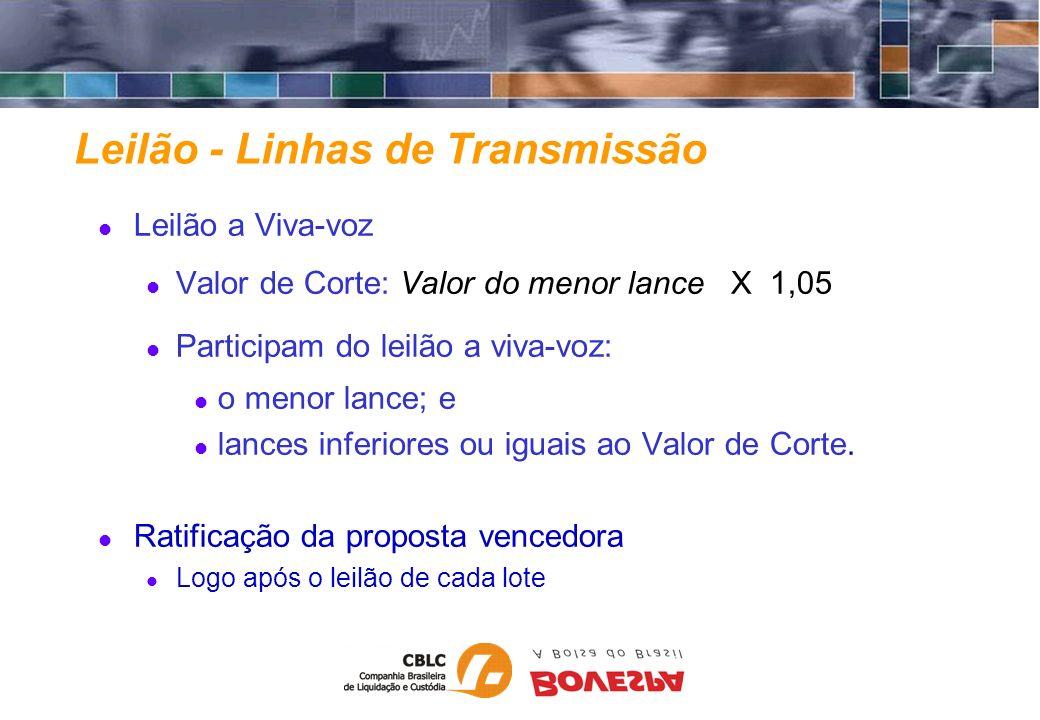 Leilão - Linhas de Transmissão
