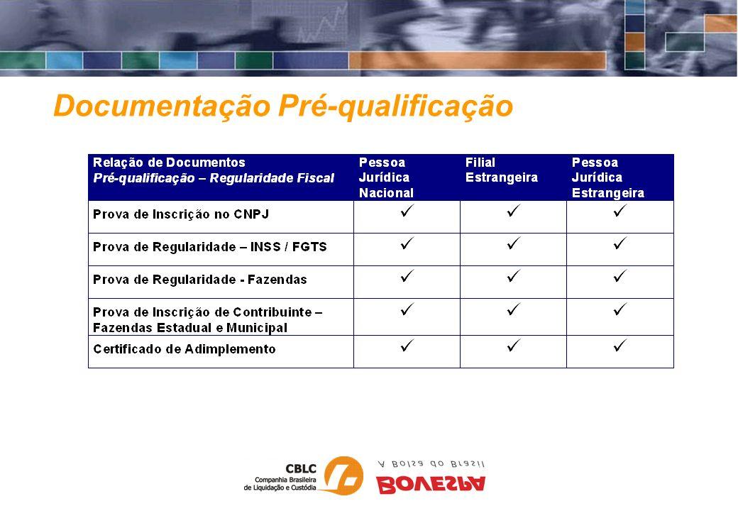 Documentação Pré-qualificação