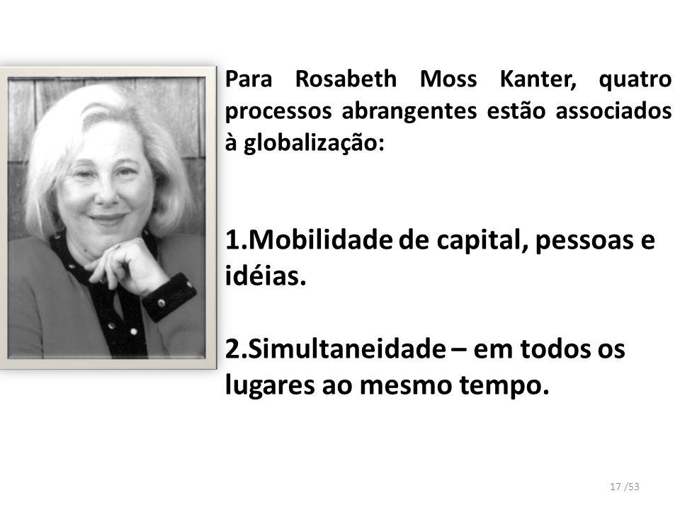 1.Mobilidade de capital, pessoas e idéias.
