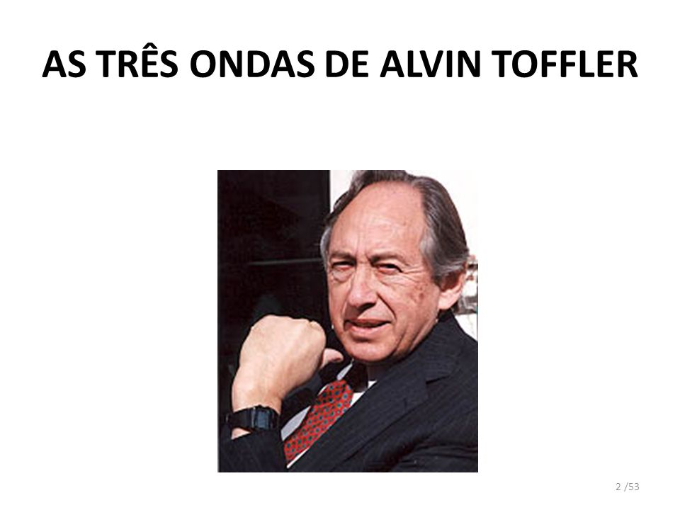 AS TRÊS ONDAS DE ALVIN TOFFLER