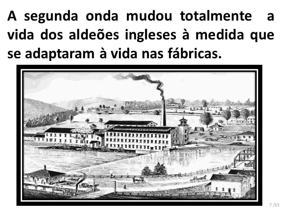 A segunda onda mudou totalmente a vida dos aldeões ingleses à medida que se adaptaram à vida nas fábricas.