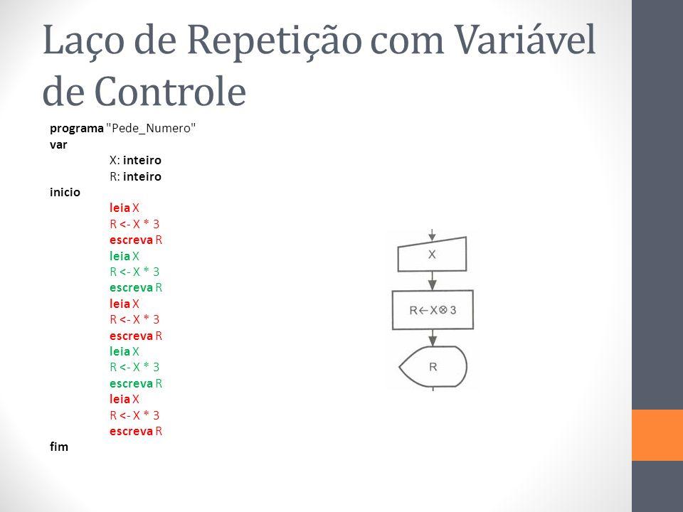 Laço de Repetição com Variável de Controle
