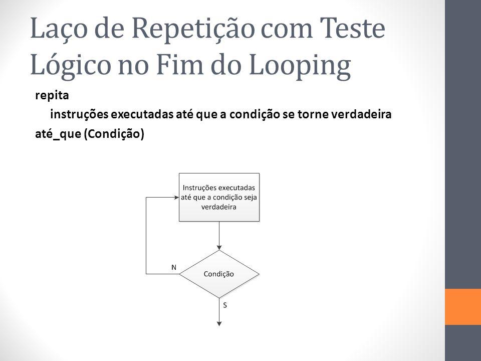 Laço de Repetição com Teste Lógico no Fim do Looping