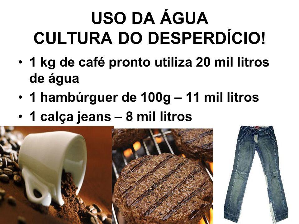 USO DA ÁGUA CULTURA DO DESPERDÍCIO!