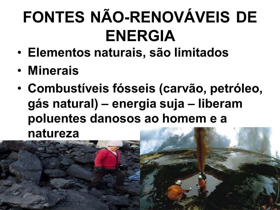 FONTES NÃO-RENOVÁVEIS DE ENERGIA
