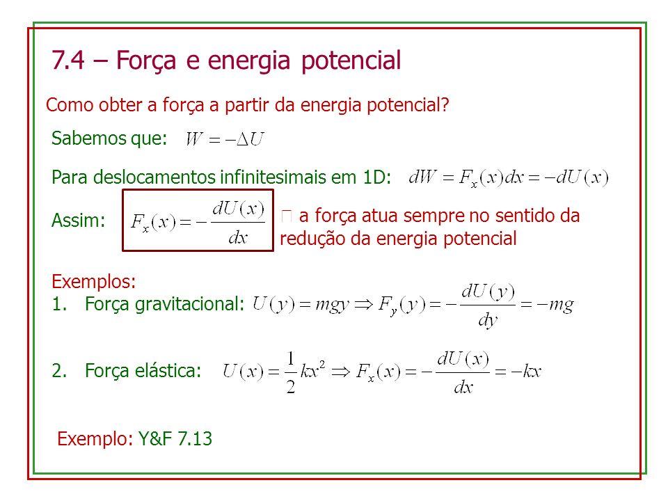 7.4 – Força e energia potencial