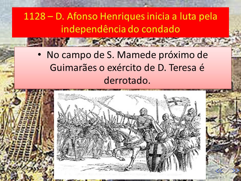 1128 – D. Afonso Henriques inicia a luta pela independência do condado