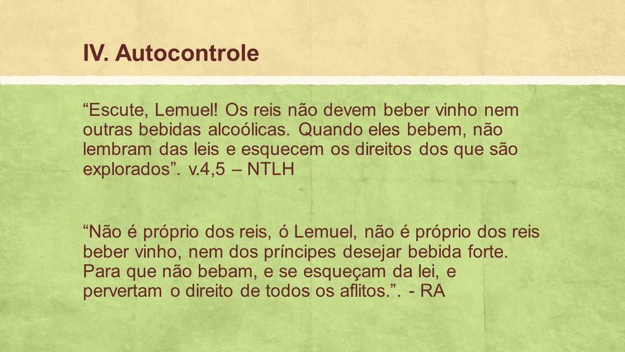 IV. Autocontrole