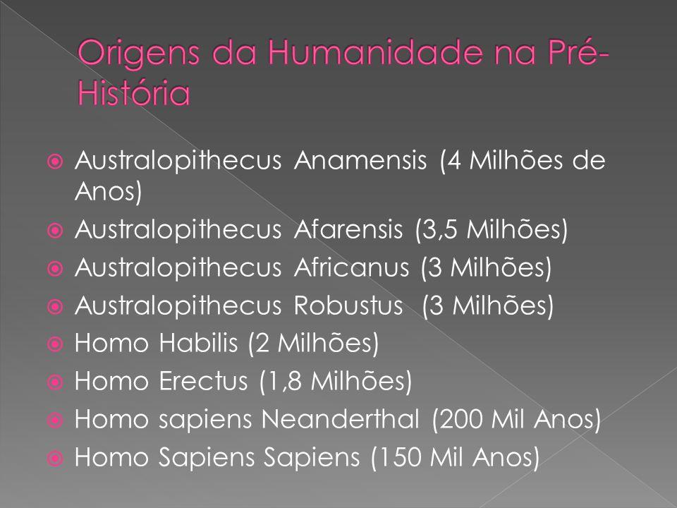 Origens da Humanidade na Pré-História
