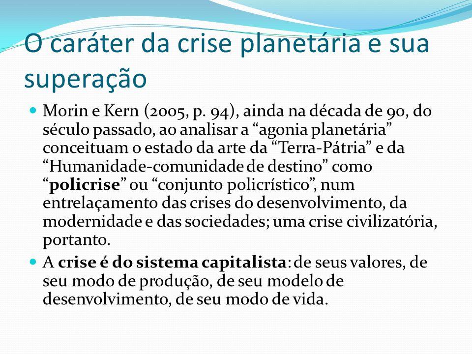 O caráter da crise planetária e sua superação