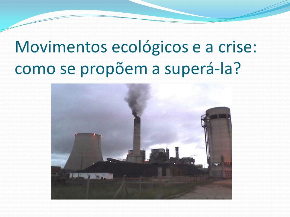 Movimentos ecológicos e a crise: como se propõem a superá-la