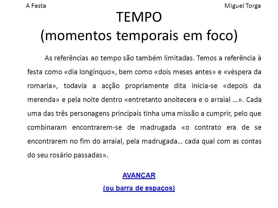 TEMPO (momentos temporais em foco)